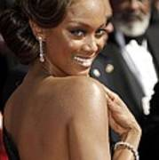 Tyra Banks At Arrivals For 58th Annual Art Print by Everett
