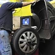 Tyre Workshop And Garage Art Print