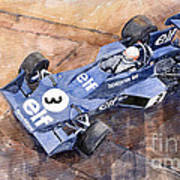 Tyrrell Ford 007 Jody Scheckter 1974 Swedish Gp Art Print