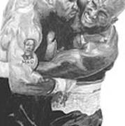 Tyson Vs Holyfield Art Print