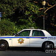 Uc Berkeley Campus Police Car  . 7d10178 Art Print
