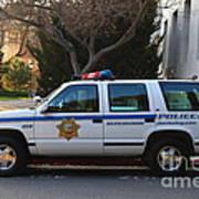 Uc Berkeley Campus Police Suv  . 7d10182 Art Print