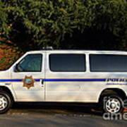 Uc Berkeley Campus Police Van  . 7d10180 Art Print