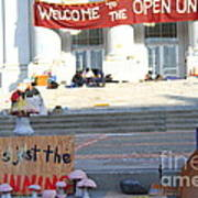 Uc Berkeley . Sproul Hall . Sproul Plaza . Occupy Uc Berkeley . The Is Just The Beginning . 7d10018 Art Print