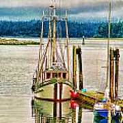 Ucluelet Harbour Hdr Art Print