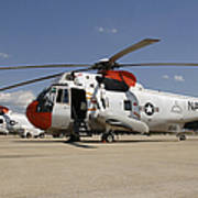 Uh-3h Sea King Helicopters Based Art Print