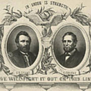 Ulyssess S Grant And Schuyler Colfax Republican Campaign Poster Art Print
