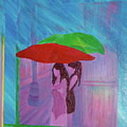 Umbrella Girls Art Print