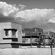 Under Construction Bw Palm Springs Art Print