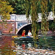 Under The Bow Bridge Central Park Art Print