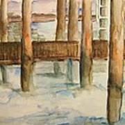 Under The Docks Art Print