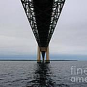 Under The Mackinac Bridge Art Print