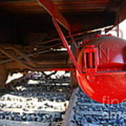 Under The Old Western Pacific Caboose Train . 7d10722 Art Print by Wingsdomain Art and Photography