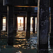 Under The Pier Print by Bill Cannon