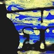 Underground - People Silhouette Serigraphic Arts Art Print