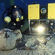 Underwater Archaeology Art Print