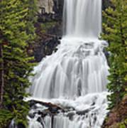 Undine Falls Yellowstone National Park Art Print