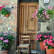 Uneven Tuscan Doorway Poster  sc 1 st  Fine Art America & Uneven Tuscan Doorway Photograph by Donna Corless