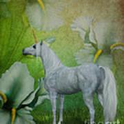 Unicorn And Lilies Art Print