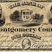 Union Banknote, 1865 Art Print