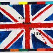 Union Jack One Team For Life Art Print