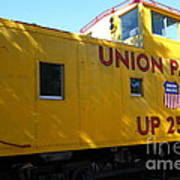 Union Pacific Caboose - 5d19205 Art Print by Wingsdomain Art and Photography
