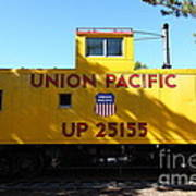 Union Pacific Caboose - 5d19206 Art Print by Wingsdomain Art and Photography