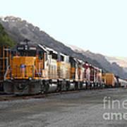 Union Pacific Locomotive Trains . 7d10561 Art Print