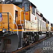 Union Pacific Locomotive Trains . 7d10588 Art Print