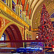 Union Station Christmas Art Print