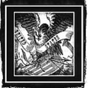 United States Bw Art Print
