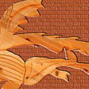 Up Against A Brick Wall Art Print