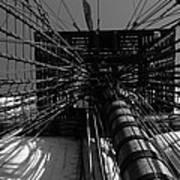 Up To The Crow's Nest - Monochrome Art Print