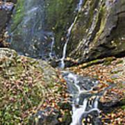 Upper Dark Hollow Falls In Shenandoah National Park Art Print