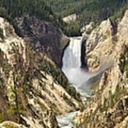 Upper Falls Yellowstone Art Print