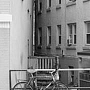 Urban Convergence Black And White Art Print
