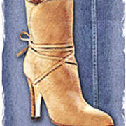 Urban Cowgirl Suede Boots Art Print