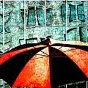 Urban Umbrella Art Print