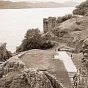 Urquhart Castle Ages Art Print
