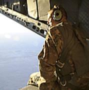 U.s. Air Force Commander Sits Harnessed Art Print
