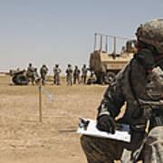 U.s. Army Radio Operator Communicates Art Print