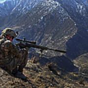 U.s. Army Sniper Provides Security Art Print
