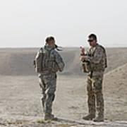 U.s. Army Soldier And German Soldier Art Print