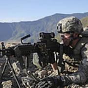 U.s. Army Soldier Provides Overwatch Art Print