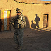 U.s. Army Soldiers Conduct A Dismounted Art Print