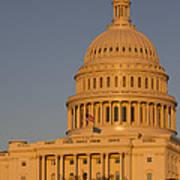 Us Capital Dome Sunset Glow Art Print