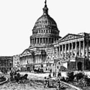 U.s. Capitol, 1884 Art Print