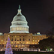 U.s. Capitol Christmas Tree 2009 Art Print by Metro DC Photography
