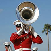 U.s. Marine Corps Drum And Bugle Corps Art Print