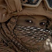 U.s. Marine Covered In Dirt Art Print